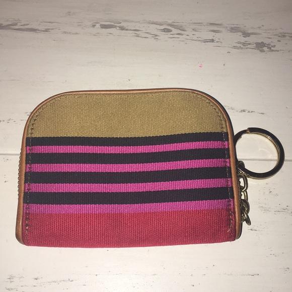 Brahmin Handbags - Brahmin RARE Canvas & Leather Zip Wallet